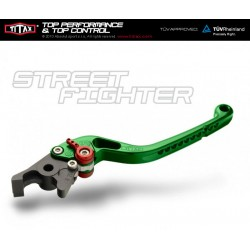 Brake lever Titax Streetfighter normal Silver R22