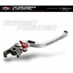 Brake lever Titax Streetfighter normal Blue R22