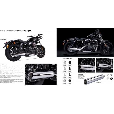 Exhaust Spark Konix for Honda CBR 500 R // CB 500 FA / XA 13-16