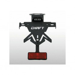 Rear-view mirror Chaft Custom Ovale chrom left
