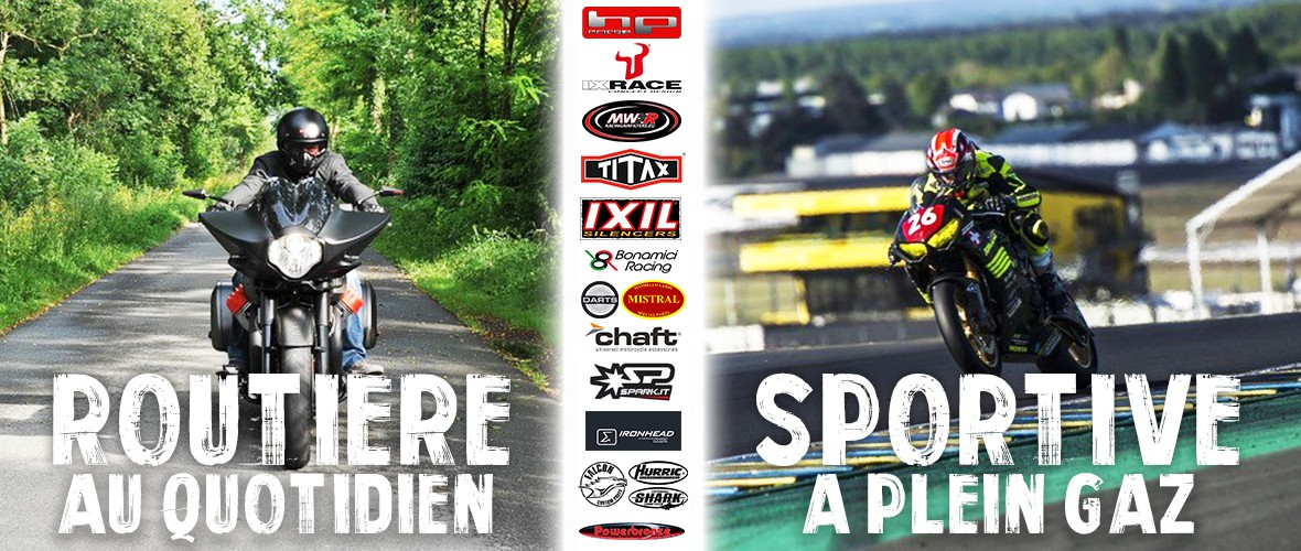 Découvrez nos marques de pièces motos : Ixil, IXrace, Titax, Chaft, MWR, Harisson, Spark, Hp Corse, Bonamici Racing, Darts, Ironhead, Powerbronze, Falcon, Hurric, Shark,